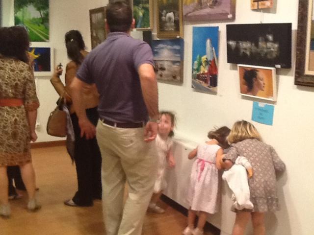 Unas niñas preciosas,futuras pintoras