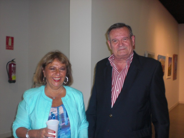 dos buenos pintores.Anne Marie y Augusto