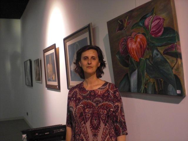 Yolanda y su cuadro
