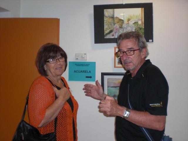 Tomi Caballero,cartelista profesional y El pintor  J.L. Risoto