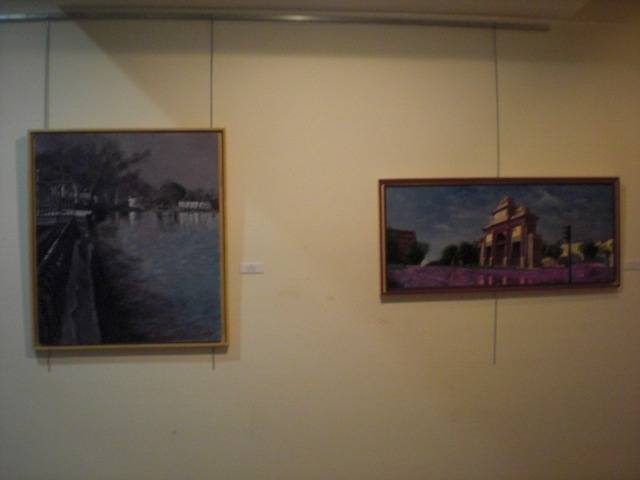 Cuadros de Risoto  en la exposición de la sala Retiro en ciudad de Barcelona 162 ,Madrid