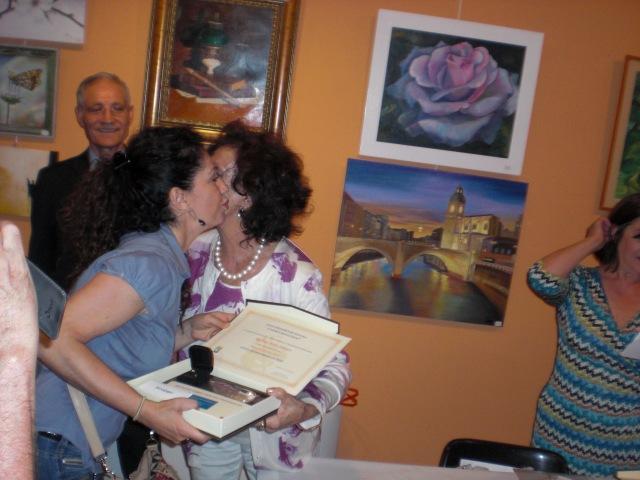 l primer premio de Oleo  Paloma Melo