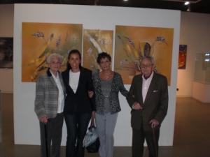 Maria Dolores Carrión Eva Duram Carmen Holgueras y enrique Rodriguez de Almeida. Obra de Carmen Holgueras