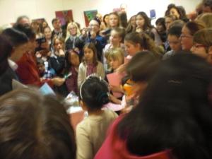 Entrega de premios en el anterior certamen infantil de pintura.