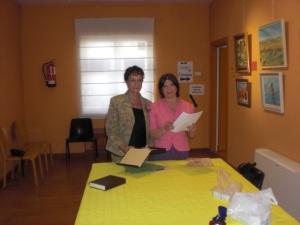 Preparando los premiosSecretaria General y Presidenta