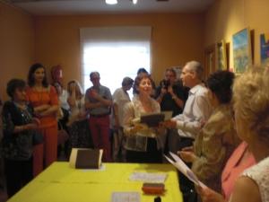 Marcos Rubio Entrega el premio a Elisa Gonzalo Tejedor