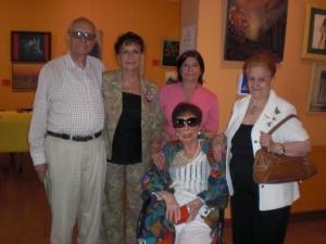 Findelman.Carmen Holgueras Mª Angeles Gil,Nati Lozano y la galardonada Carmen Villelga