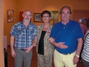 Tudor Serbanescu, Carmen Holgueras y Rodolfo Garrido.TRes buenos pintores